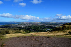 A Look at Edinburgh From Archer's Hill Royalty Free Stock Photography