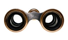Look into the eyepieces of binoculars Royalty Free Stock Photography