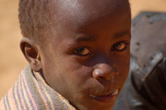 The look on the faces of the children of Africa - Village Pomeri Stock Photo