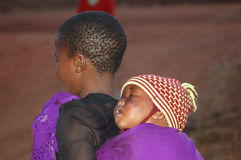 The look on the faces of the children of Africa - Village Pomeri Stock Image
