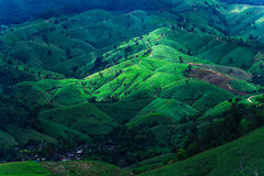 Look at a far away mountain. View from hight mountain of Chiang mai, Thailand Stock Image