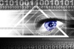 Look into the future. Internet concept - blue digital eye Royalty Free Stock Image