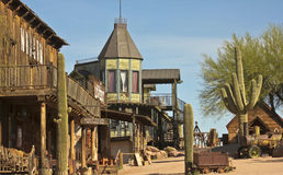 A Look at Goldfield Ghost Town, Arizona Stock Photo