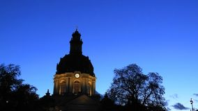A look at the Gustaf Vasa Chruch, Odenplan, Stockholm, Sweden royalty free stock photography