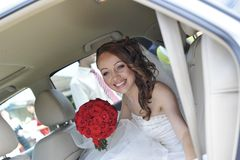 A look of the happy bride Royalty Free Stock Photos