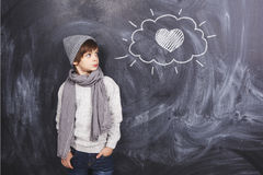 Look at the heart Stock Images