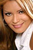 Look in her eyes. Pretty Latino woman smiling Stock Photo