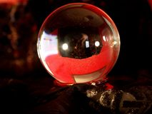 Look in Here!. Crystal Ball Royalty Free Stock Photos