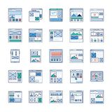 Site Flow, Wire Frame Flat Vectors Pack vector illustration