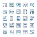 Site Flow, Wire Frame, UI Kits Flat Icons Pack vector illustration