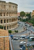 Look at history at a height. Self-timer when traveling in Rome colosseo royalty free stock photography