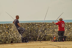 A Brighton fisherman's tale royalty free stock images