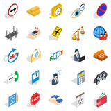 Look after icons set, isometric style Stock Photos
