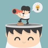 Look ideas. Illustration Cartoons concepts royalty free illustration