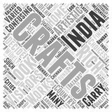 A Look at India word cloud concept  background Stock Images