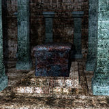 Look inside the crypt for the sarcophagus on the stairs Stock Image