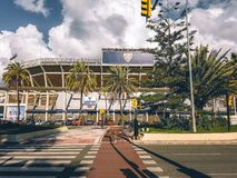 A look inside the football stadium of Malaga royalty free stock images