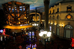 Inside Paris Las Vegas Hotel Casino Stock Photography