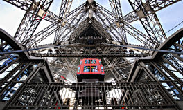 Look Inside Strong Eiffel Tower Stock Photography