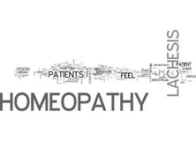 A Look At Lachesis Homeopathy Word Cloud Stock Photography