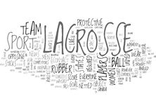 A Look At Lacrosse Word Cloud Stock Photo