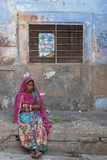 A look from the lady in Jodhpur streets Stock Image