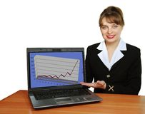 Look at laptop Royalty Free Stock Image