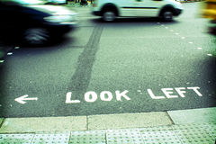 Look Left Royalty Free Stock Images