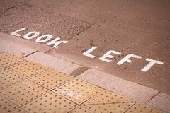 Look left in England Stock Photography