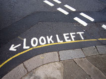 Look Left sign Royalty Free Stock Image