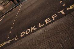 Look left sign on a London street Stock Photography