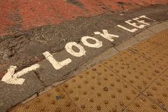 Look left street sign Royalty Free Stock Image