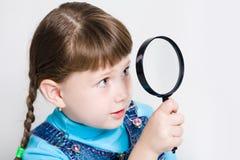 Look through a lens Stock Photo