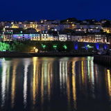 A Look at the Light Reflections of Brixham Royalty Free Stock Images