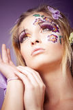 Look with long lashes Royalty Free Stock Image
