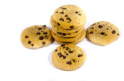 Look look at that you found some chocolate chip cookie`s. A cookie is a baked or cooked food that is small, flat and sweet. It usually contains flour, sugar and stock image