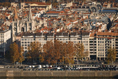 The look at Lyon 1. The look at Lyon from the Notre-Dame de Fourviere cathedral stock photography