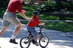 Look Ma no training wheels Royalty Free Stock Image