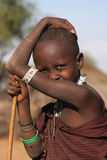 Look of a Masai Girl Royalty Free Stock Photography