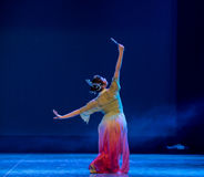 Look in the mirror-Rouged Lips-Chinese classical dance Royalty Free Stock Image
