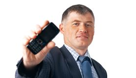 Look On The Mobile. Stock Photography