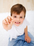 Look mom, I have lost a tooth Stock Photos