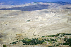 Look from Mount Nebo hill to the valley. royalty free stock image