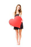 Look at my big heart... Royalty Free Stock Photo