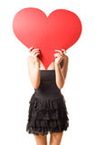 Look at my big heart... Royalty Free Stock Image