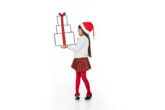 Look at my christmas gift Stock Image