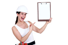 Look at my clipboard. Royalty Free Stock Photos