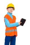 Look at my digital tablet Royalty Free Stock Photos