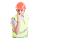 Look into my eyes concept with attractive constructor Stock Image