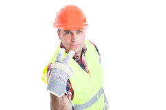 Look into my eyes concept with handsome builder Stock Image